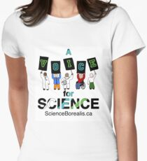 A Voice for Science - Science March Tee! Women's Fitted T-Shirt