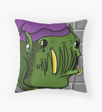 Thug Life Orc Throw Pillow