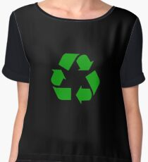 Recycle sign | Globetrotter Chiffon Top