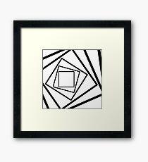 Hypnotic Black And White Framed Print