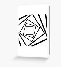 Hypnotic Black And White Greeting Card