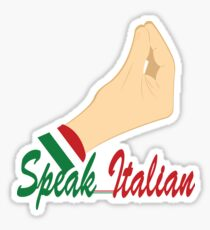 speak italian meme Sticker