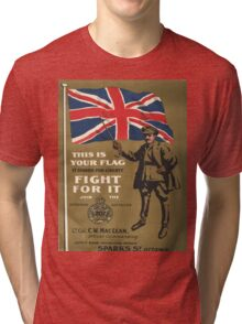 Vintage poster - This is Your Flag Tri-blend T-Shirt