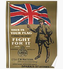 Vintage poster - This is Your Flag Poster