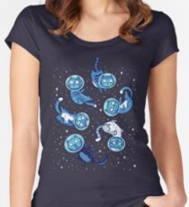 Galaxy cats Women's Fitted Scoop T-Shirt