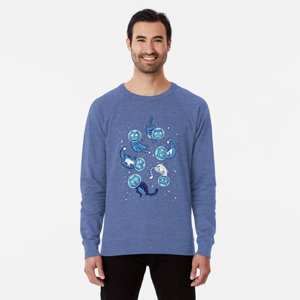 Galaxy cats Lightweight Sweatshirt