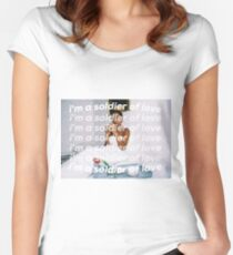 SOLDIER OF LOVE Women's Fitted Scoop T-Shirt
