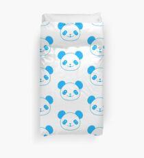 Blue Kawaii Panda Bear Duvet Cover