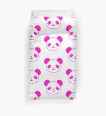 Pink Kawaii Panda Bear Duvet Cover