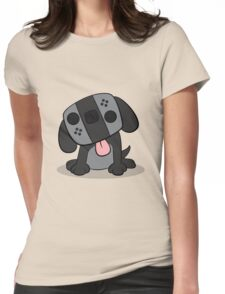 Nintendo Switch Dog Cartoon Womens Fitted T-Shirt