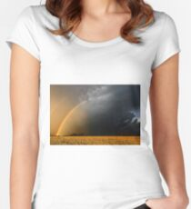 Storm Over Canolla Field  Women's Fitted Scoop T-Shirt