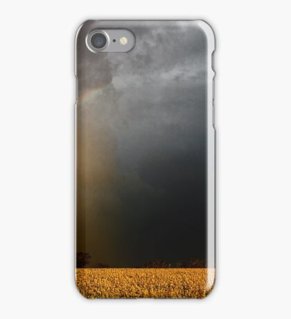Storm Over Canolla Field  iPhone Case/Skin