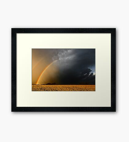 Storm Over Canolla Field  Framed Print