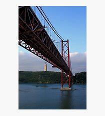 25 De Abril Bridge Photographic Print