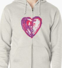 The Heart Of A Child By A Child Zipped Hoodie