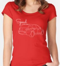 MazdaSpeed 3 Outline - Speed Artwork Women's Fitted Scoop T-Shirt