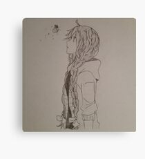 Anime Girl with Butterfly Canvas Print