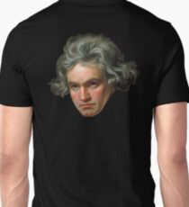 Ludwig van Beethoven, German composer and pianist, on Black Unisex T-Shirt