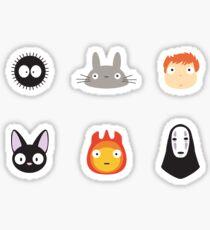 Mini Studio Ghibli Heads Sticker