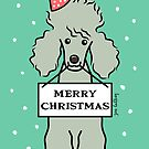 Merry Christmas Poodle  by zoel