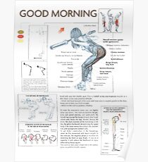 Good Morning - Exercise Muscle Diagram Poster
