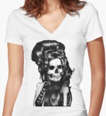 Dead Famous Amy Women's Fitted V-Neck T-Shirt