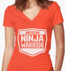 American Ninja Warrior - White Women's Fitted V-Neck T-Shirt