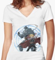 Fullmetal alchemist brotherhood Women's Fitted V-Neck T-Shirt