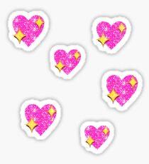 Heart mojis Sticker