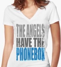 The Angels have the PhoneBox Women's Fitted V-Neck T-Shirt