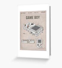 Gameboy Patent Greeting Card