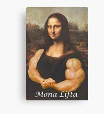 Mona Lifta - Muscular Bodybuilding Mona Lisa Parody Canvas Print