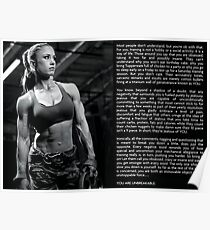 You Are Unbreakable - Women's Fitness Motivation Poster
