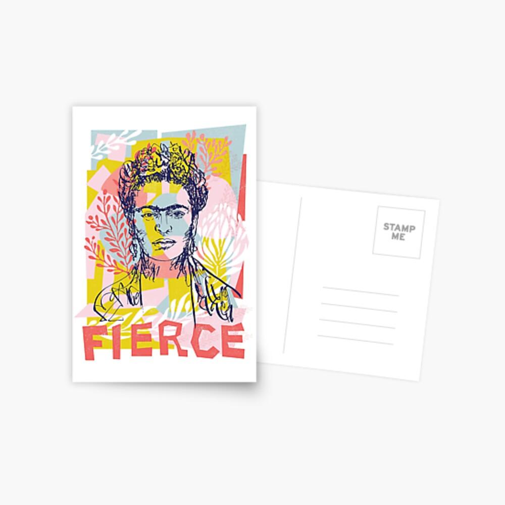 Heftig wie Frida Postkarte