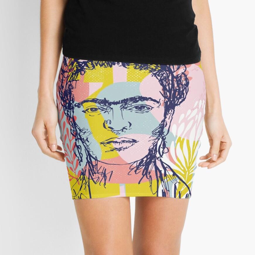 Fierce like Frida Mini Skirt