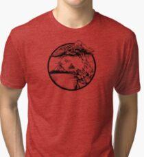 Meditation Zen Red Tri-blend T-Shirt