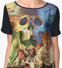 The Secret of Monkey Island 1 (High Contrast) Chiffon Top