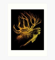 Mountain Spirit -black- Art Print