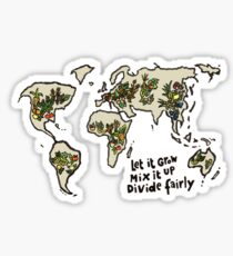 Let it grow, Mix it up, Divide Fairly Sticker