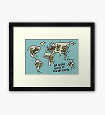 Let it grow, Mix it up, Divide Fairly Framed Print