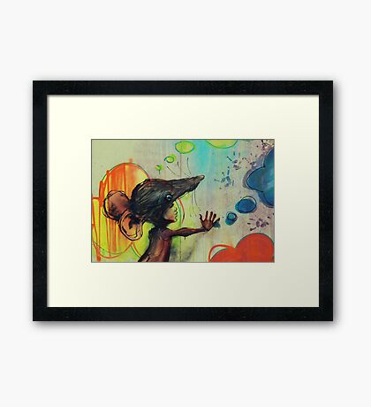 Thought Bubbles Framed Print