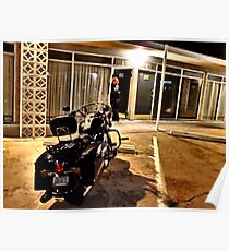 Route 66 Motel and Harley Davidson  Poster
