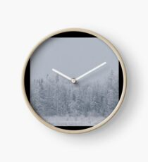 Winter forest Clock