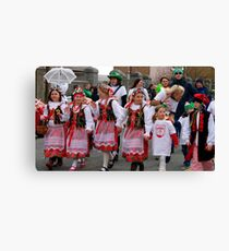 Polish contingent at St Patrick's Day parade in Wexford, Ireland Canvas Print