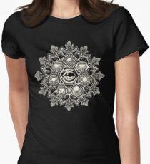 Anahata Seven Chakra Flower Mandala Women's Fitted T-Shirt