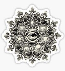 Anahata Seven Chakra Flower Mandala Sticker