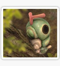 Caterpie on a tree Sticker