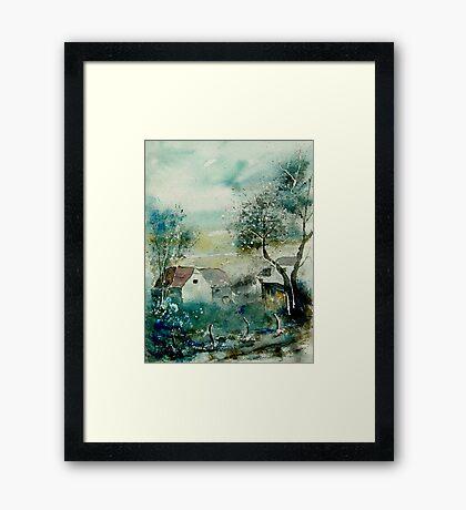 watercolor monceau Framed Print