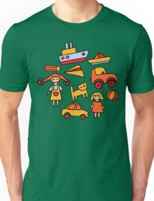 Set of funny toys Unisex T-Shirt
