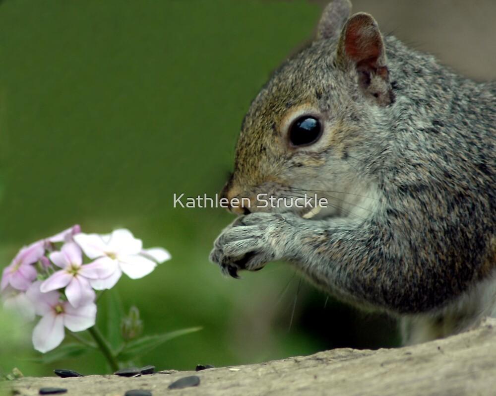 Chipmonk And Flower by Kathleen Struckle